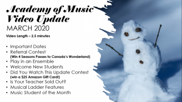 Music Lesson Updates March 2020